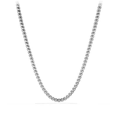 Ultra Wide Square Box Chain Necklace, 7.3mm