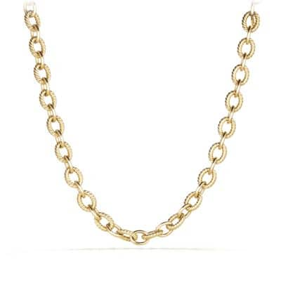 Large Oval Link Chain Necklace in 18K Gold
