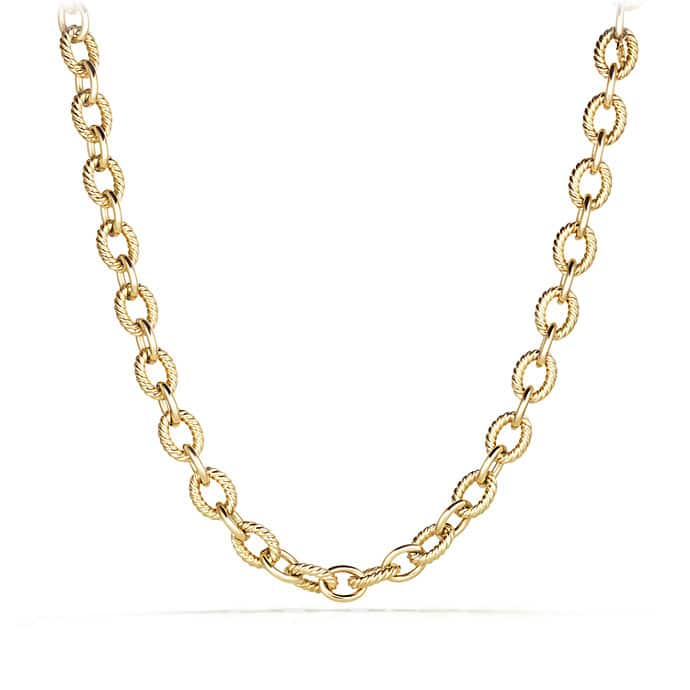 Oval Large Link Necklace in 18K Gold