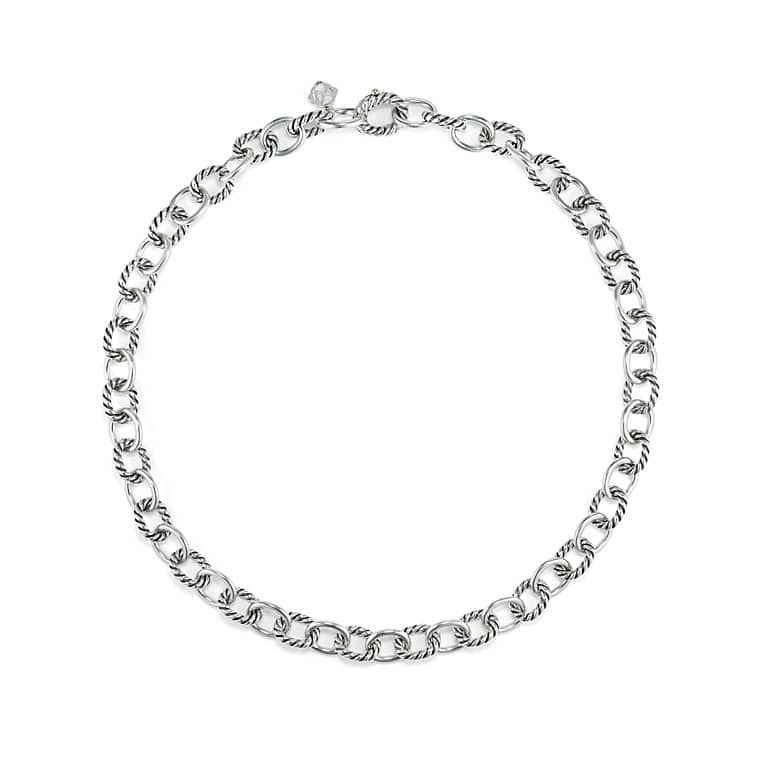 product glamazon metallic oval ippolita gallery necklace silver link in lyst chains sterling normal jewelry
