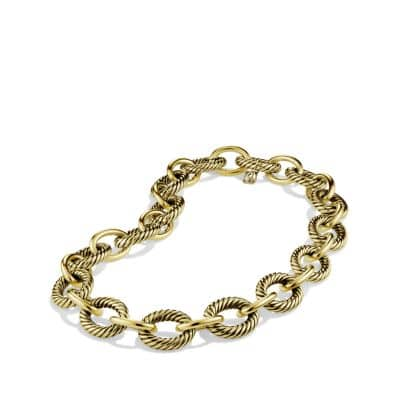 Extra-Large Oval Link Necklace in 18K Gold