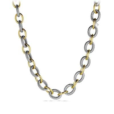 Oval Extra-Large Link Necklace with Gold