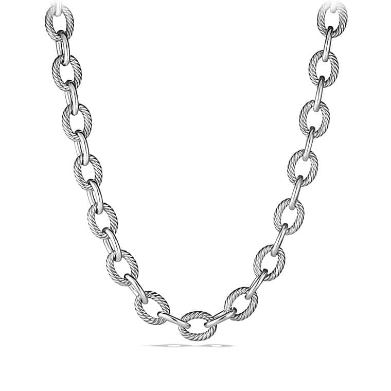 pdp collections ss women main medium oval chain products link onmodel necklace