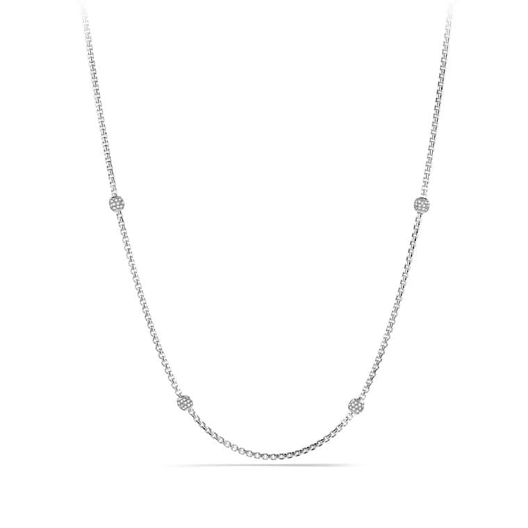 Chain Necklace with Diamond Beads