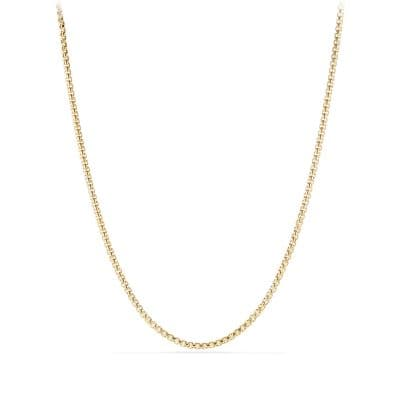 Medium Box Chain Necklace in 18K Gold, 3.6mm