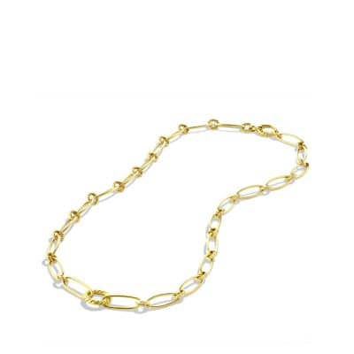 Oval Link Necklace in Gold