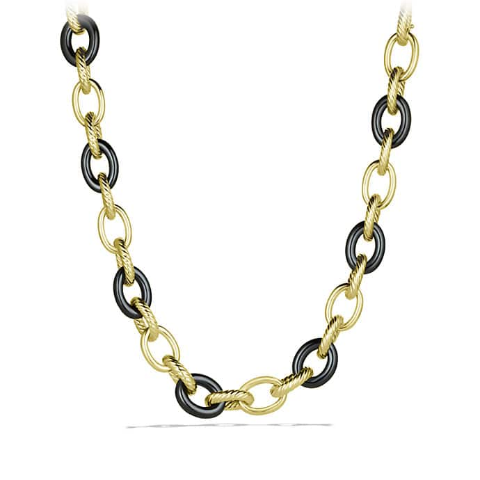 Oval Extra-Large Link Necklace in Gold
