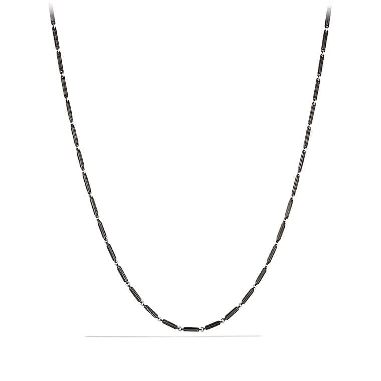 Royal Cord Chain Necklace with Black Titanium