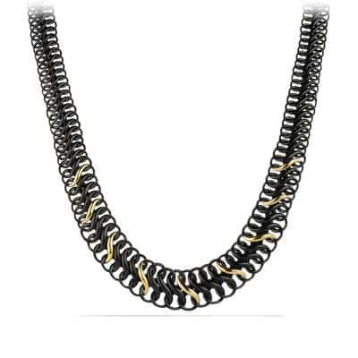 Black & Gold Chain Necklace