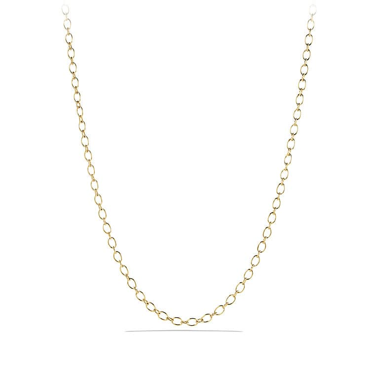 and Cable Link Chain Necklace in 18K Gold