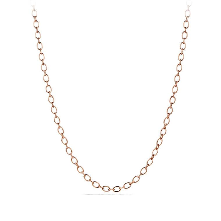 co link with en ponytail oval chain flat necklace ovf