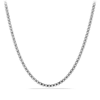 Double Box Chain Necklace, 4mm