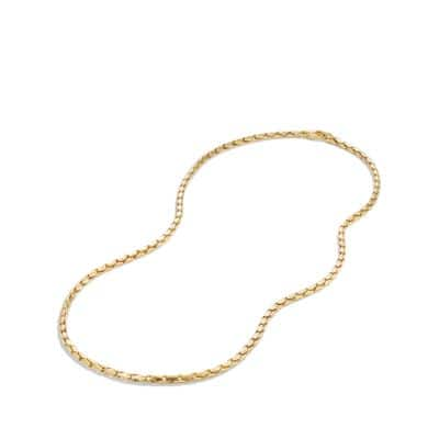 Small Fluted Chain Necklace in 18K Gold, 3.8mm