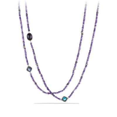 Limited-Edition Bead Necklace with Amethyst, Lavender Amethyst, and Hematine