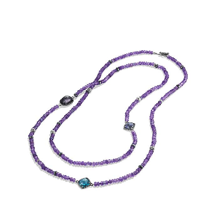 Limited-Edition Bead Necklace with Amethyst, Black Orchid and Hematine