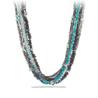 DY Signature Necklace with Labradorites and Turquoises