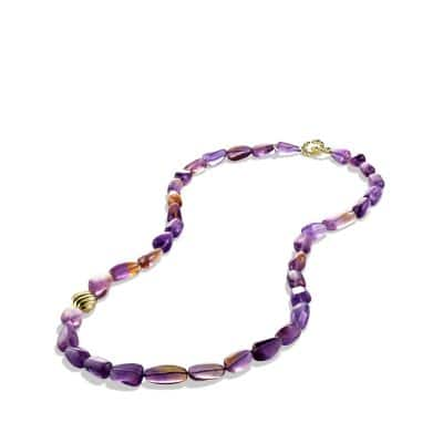 DY Signature Bead Necklace with Ametrine in Gold