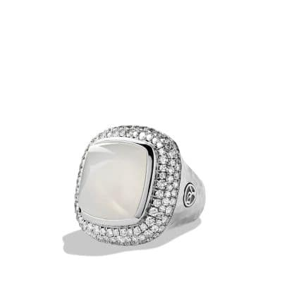 Albion® Ring with Moon Quartz and Diamonds