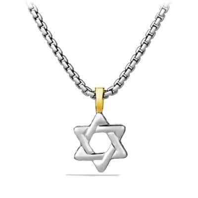 Star of David with 18K Gold
