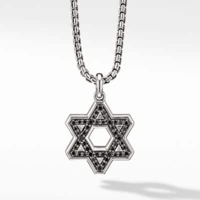 Pavé Reversible Star of David with Black Diamonds