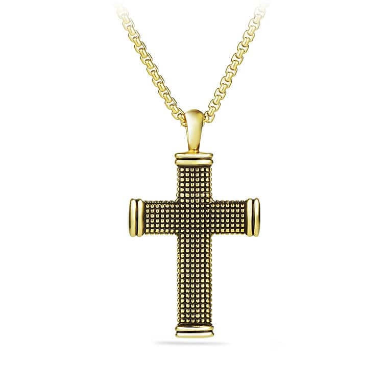 Sky Small Cross in Gold