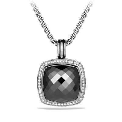 Albion Pendant with Hematine and Diamonds