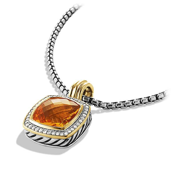 Albion Pendant with Citrine, Diamonds, and Gold