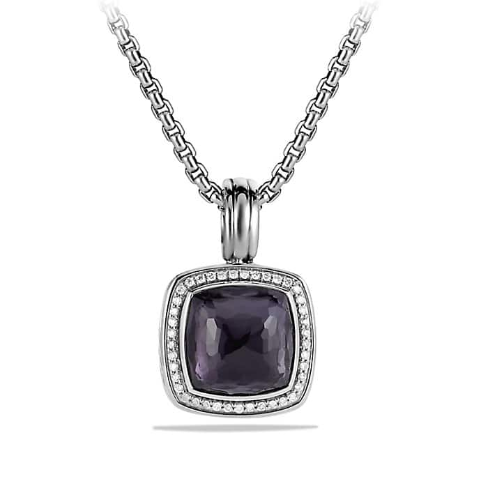 Albion Pendant with Diamonds, 14mm Gemstone