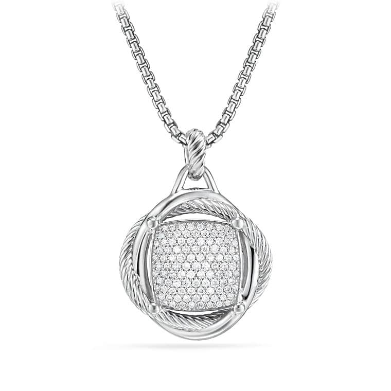 Infinity Large Pendant with Diamonds