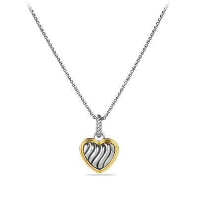 Cable Collectibles Heart Charm with Gold