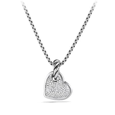 Cable Collectible Heart Pendant with Diamonds