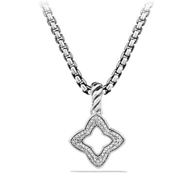 Quatrefoil Pendant with Diamonds