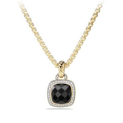 Pendant with Black Onyx and Diamonds in 18K Gold