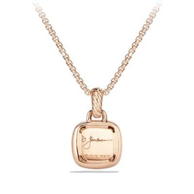 Pendant with Diamonds and Morganite in 18K Rose Gold