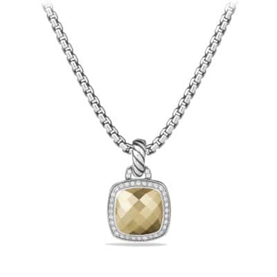 Albion® Pendant with Diamonds and 18K Gold, 11mm