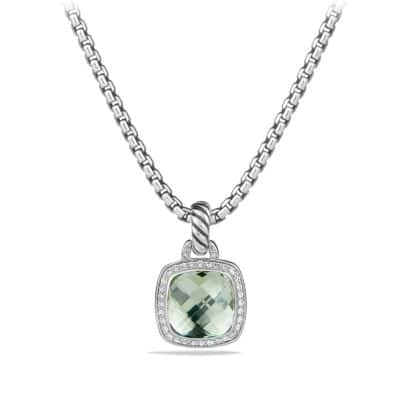 Albion® Pendant with Prasiolite and Diamonds, 11mm
