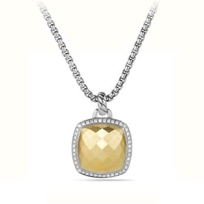 Albion Pendant with Diamonds and Gold