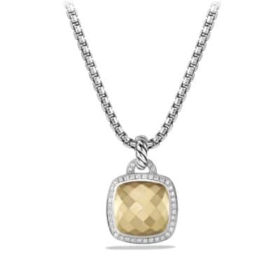 Albion Pendant with Diamonds and 18K Gold Dome, 14mm