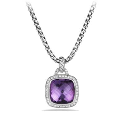 Albion® Pendant with Amethyst and Diamonds, 14mm
