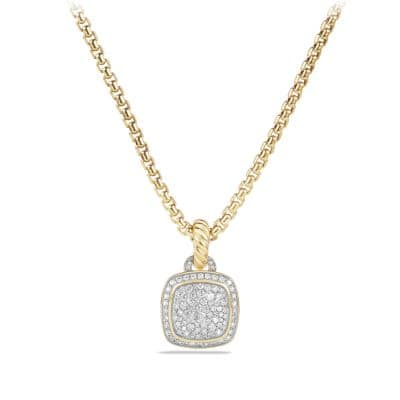 Albion Pendant with Diamonds in 18K Gold, 11mm