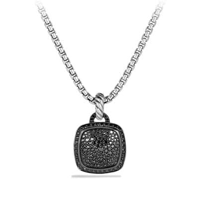 Albion Pendant with Black Diamonds, 14mm