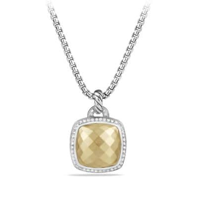 Albion® Pendant with Diamonds and 18K Gold Dome, 17mm