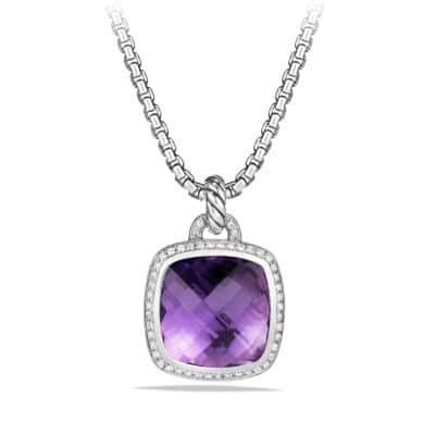 Albion Pendant with Amethyst and Diamonds, 17mm