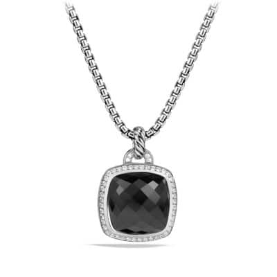 Albion® Pendant with Black Onyx and Diamonds, 17mm