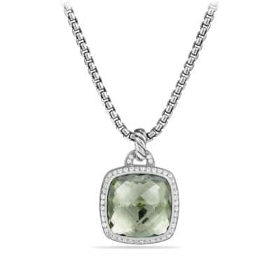 Albion® Pendant with Prasiolite and Diamonds, 17mm