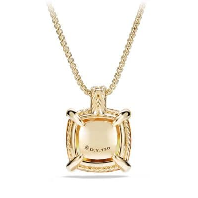 Châtelaine Pendant with Citrine and Diamonds in 18K Gold, 20mm