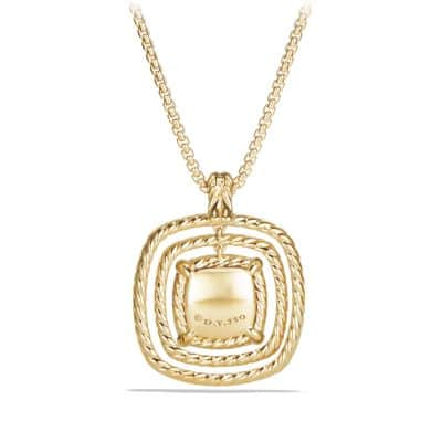 Chatelaine Pave Bezel Enhancer with Champagne Citrine and Diamonds in 18K Gold, 26mm