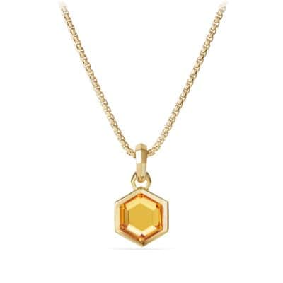 Cable Collectibles Hexagon Cut Amulet in 18k Gold