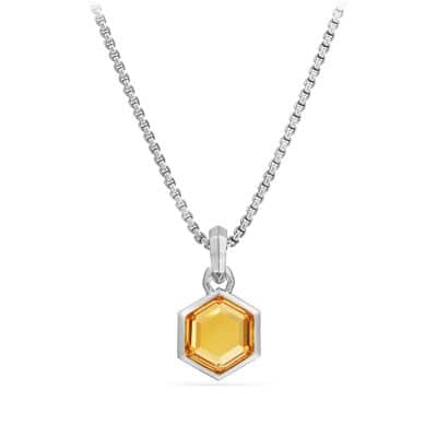 Cable Collectibles Hexagon Cut Amulet with Citrine