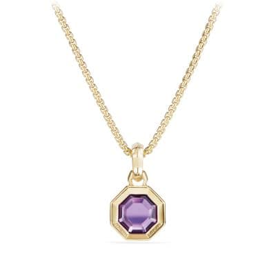 Cable Collectibles Octagon Cut Amulet in 18k Gold